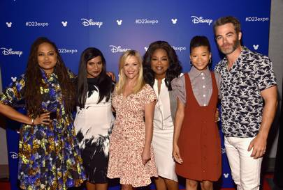 Ava DuVernay, Mindy Kaling, Reese Witherspoon, Oprah Winfrey, Storm Reid and Chris Pine at D23 Expo