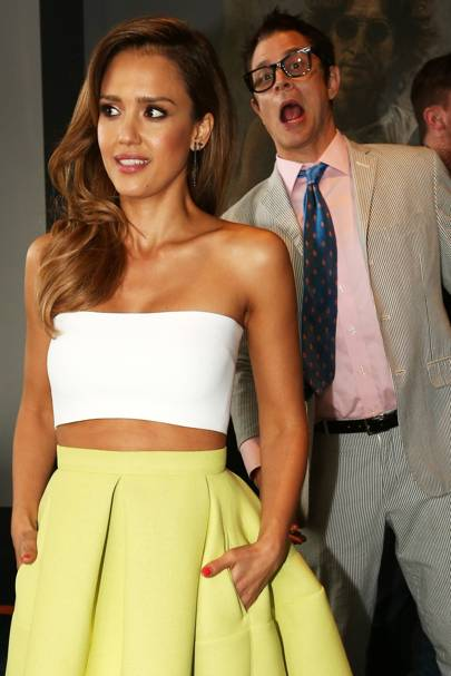 Johnny Knoxville & Jessica Alba