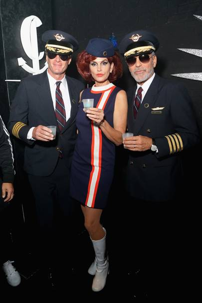 Cindy Crawford as an Air Hostess