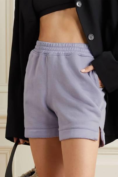 Cotton-jersey sweat shorts