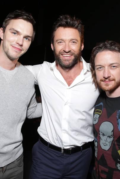 Nicholas Hoult, Hugh Jackman & James McAvoy