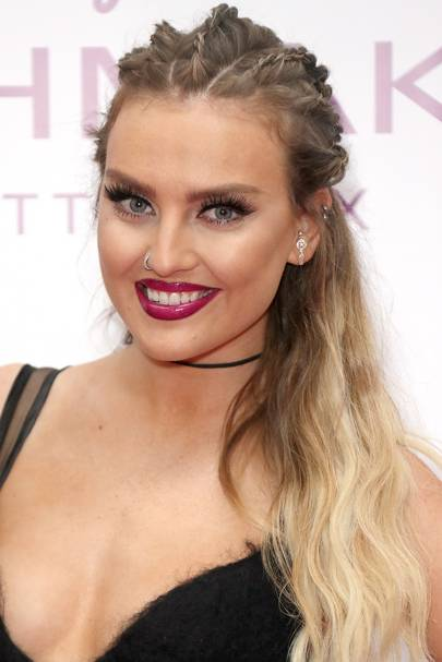 Ombre hair colour dip dye celebrity hairstyles glamour uk make way for miss perrie edwards with her new awesome hair the little mix babe has been a fan of sombre for a while but now shes gone for a full on ombre solutioingenieria Image collections