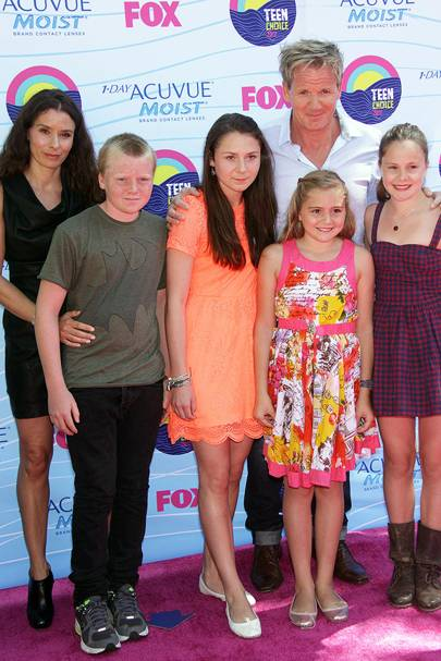 Gordon Ramsay and family at the Teen Choice Awards 2012