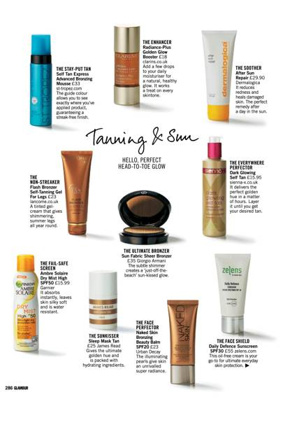TANNING AND SUN: HELLO, PERFECT HEAD-TO-TOE GLOW