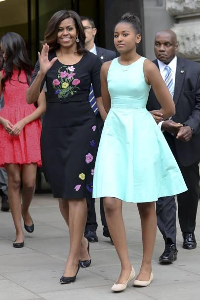 Sacha & Michelle Obama