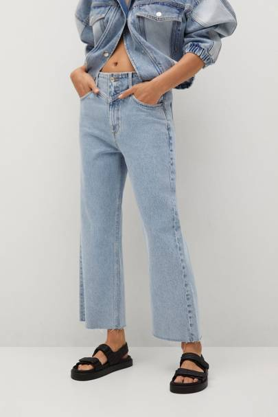 Mango Sustainable Denim Collection: the wide leg jeans