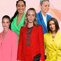 So rainbow suits are officially the trend of the season, according to the most stylish red carpet stars