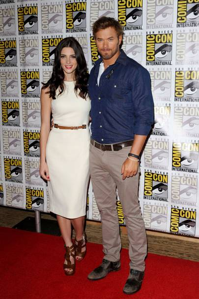 Ashley Greene and Kellan Lutz at Comic-Con 2012