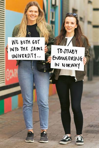 Kristen (left), 21, and Maren (right), 23, both students