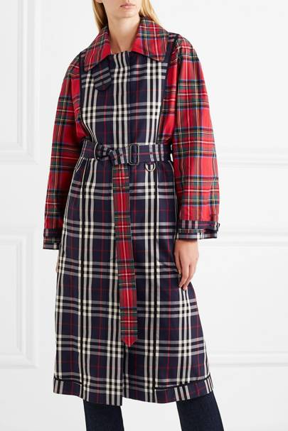 62d559519f64 Patchwork Checked Trench, £1,750, Burberry