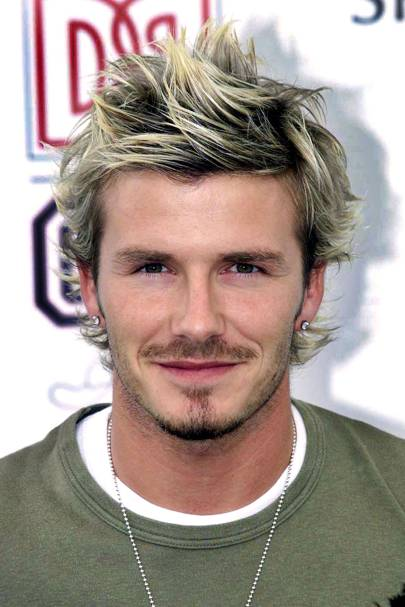 David beckham hair hairstyles then v now glamour uk busy year for becks hairstylist by september david had cultivated some pretty impressive length and was getting blonder by the minute urmus Images