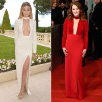 High-neck evening gown: Gigi Hadid or Julianne Moore?