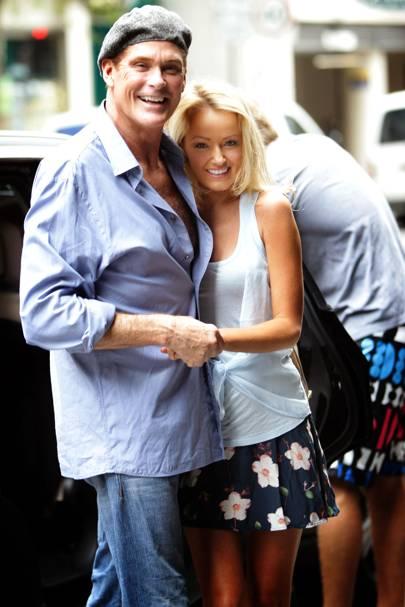 David Hasselhoff & Hayley Roberts