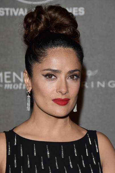 Salmaglamour: Salma Hayek Winter Beauty Interview