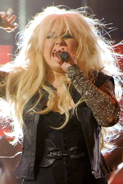DON'T #7: Christina Aguilera's wild blonde hair - October