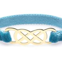 Ibiza Bracelet - Yellow Gold & Turquoise Velvet from Infinity By Victoria
