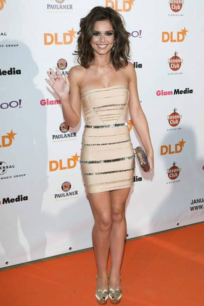 DO #5: Cheryl Cole in Herve Leger at a DLD conference, January