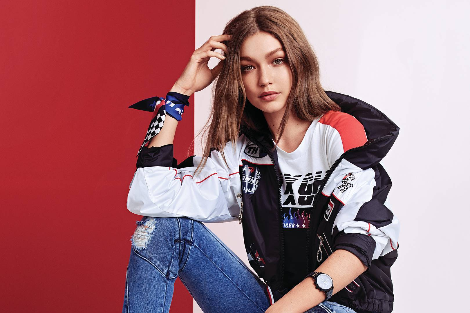 2e615cb6708b Gigi Hadid x Tommy Hilfiger Pictures   Collection