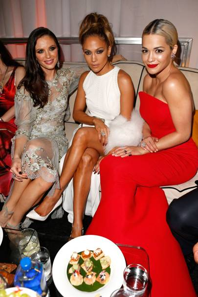 Georgina Chapman, Jennifer Lopez and Rita Ora