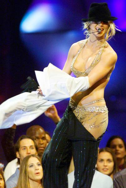 20. Britney Spears' striptease