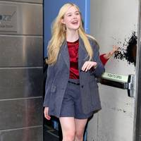 Tailored Grey – Elle Fanning