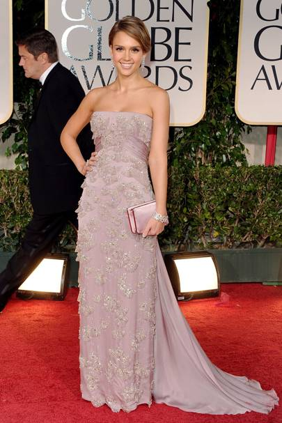 Jessica Alba at the Golden Globes 2012