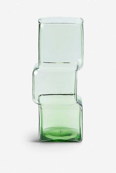 The glass vase