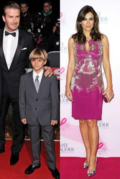 Elizabeth Hurley & Romeo Beckham