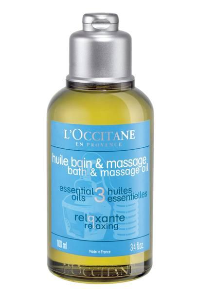 L'Occitane Relaxing Bath & Massage Oil, £12 for 100ml