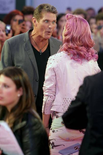 David Hasselhoff and Katy Perry at the MTV EMAs 2011