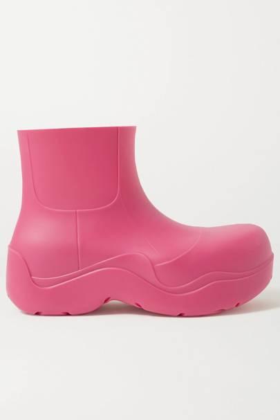 BOTTEGA VENETA: Pink Ankle Boots