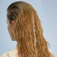 Beaded hair at Acne