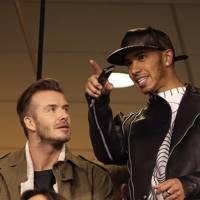 David Beckham & Lewis Hamilton