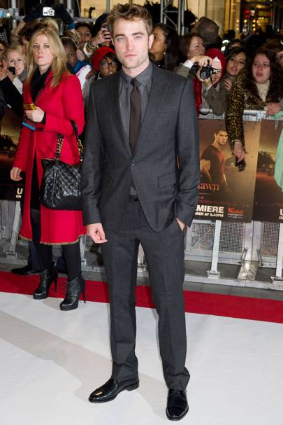 Robert Pattinson at the UK premiere of Breaking Dawn