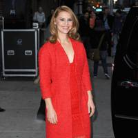 Claire Danes at the Late Show studios