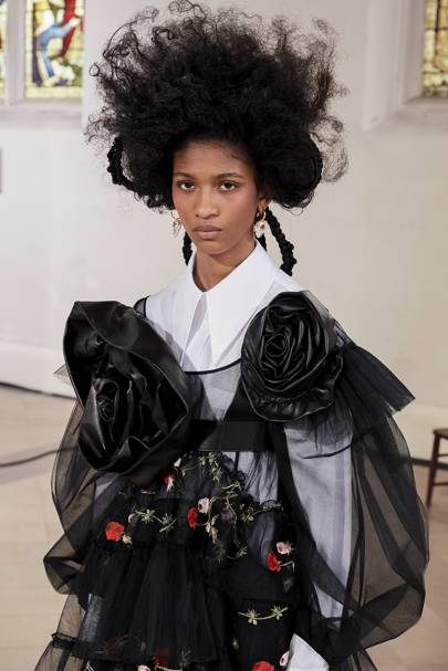 Simone Rocha gives heavy stomper boots an elegant twist as she proves that digital runways can be utterly magical