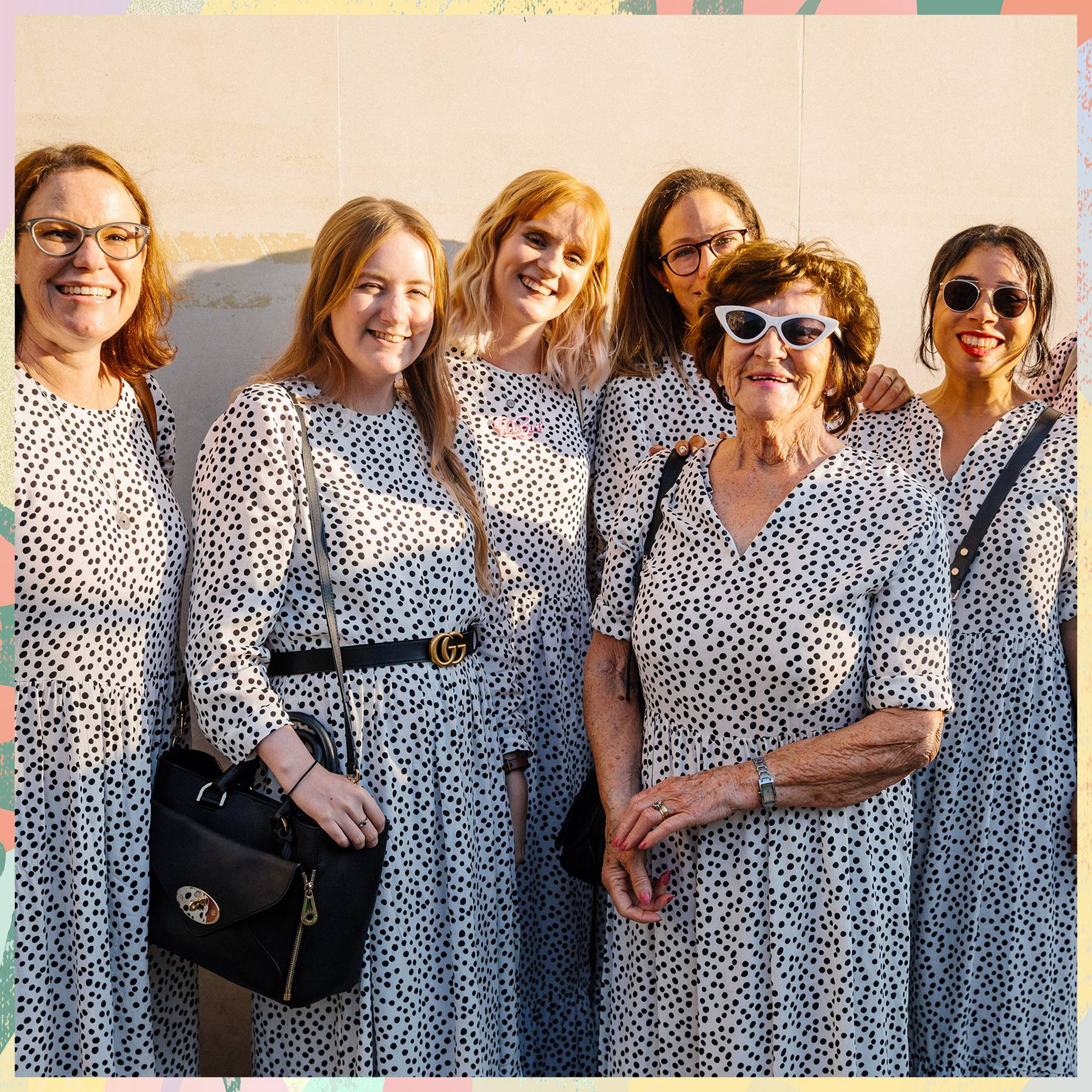 We created a safe space for *that* Zara spotty dress in aid of free periods