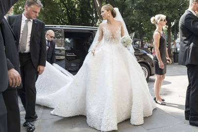 Victoria Swarovski marries in dress embellished with 500000 family crystals