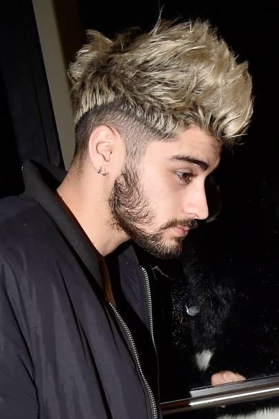 Zayn Malik Hair Hairstyles Blonde Floppy Shaved Pink