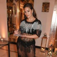 Ashley Graham in a Marina Rinaldi dress