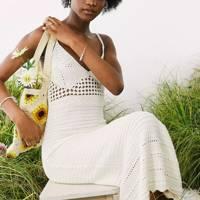 Crochet ASOS dress