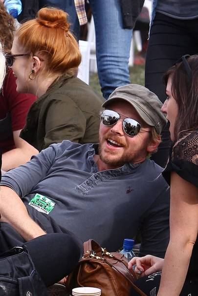 Simon Pegg at Reading Festival 2012