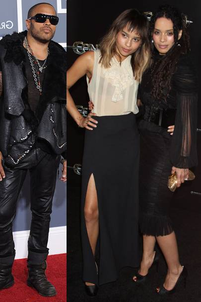 Lenny Kravitz & Zoe Kravitz & Lisa Bonet