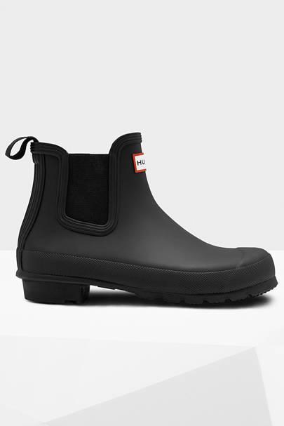 HUNTER: Black Ankle Boots