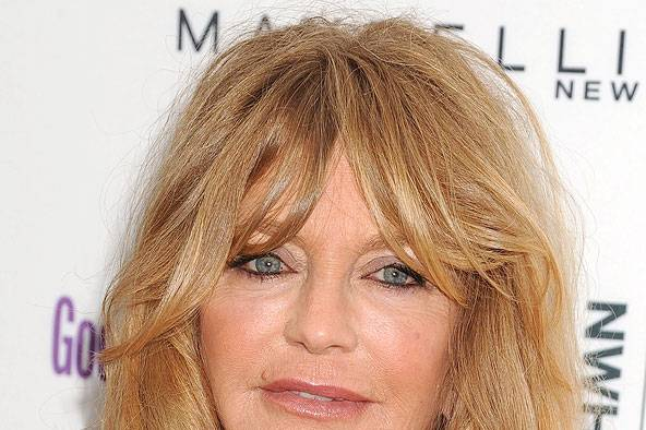 graduated hairstyles : Goldie Hawn?s too-long fringe - celebrity hair and hairstyles ...