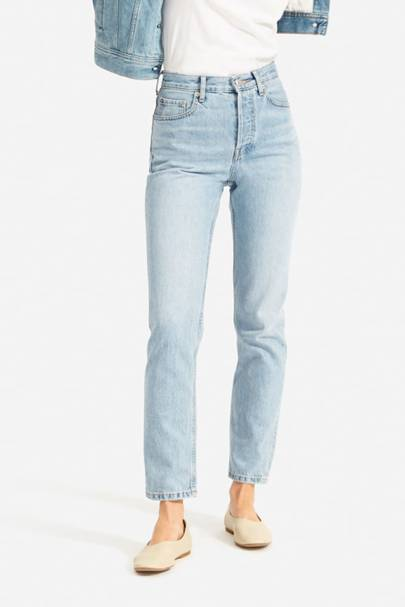 Best High-Waisted Jeans For Curvy Body: Everlane
