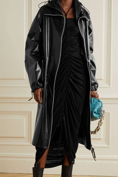 Leather coats: the long bomber