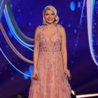 Holly Willoughby in a Dany Atrache gown