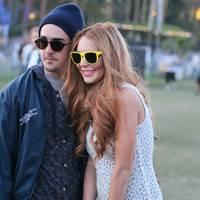 Lindsay Lohan and mystery man at Coachella 2012