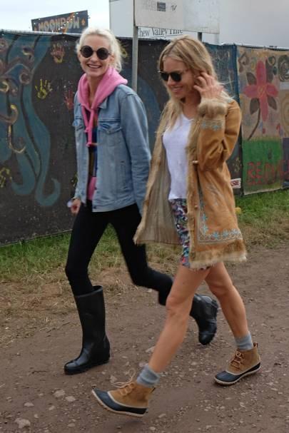 Poppy Delevingne & Sienna Miller